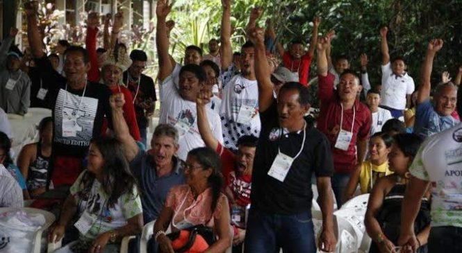 """Líderes indígenas do Amazonas denunciam: """"Alto lá! Nossas terras são inalienáveis e indisponíveis e nossos direitos inegociáveis"""""""